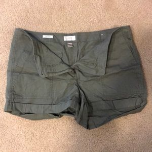 Green cargo shorts